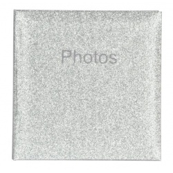 Svatební fotoalbum 10x15/200 Glitter stříbrný