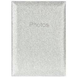 Svatební fotoalbum 10x15/300 Glitter stříbrný