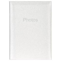 Svatební fotoalbum 10x15/300 Glitter bílé