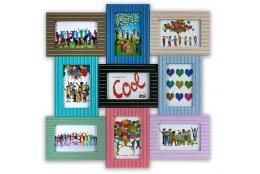 Multibarevný fotorámeček na více fotek dětský 9F