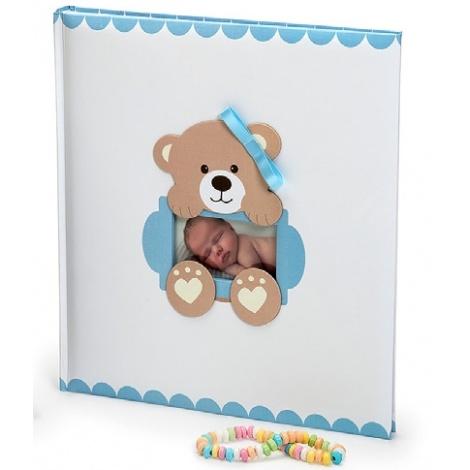 Dětské fotoalbum na růžky  BABY´S LOOP 29x32/60 modré