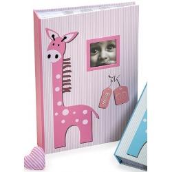 Dětské fotoalbum 10x15/300 foto s pop. BABY GIRAFFE  růžové
