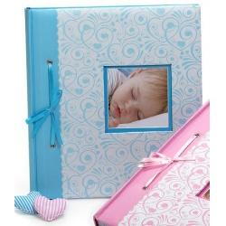 Dětské fotoalbum na růžky  BAMBINO 29x32/60 modré