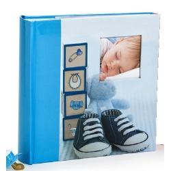 Dětské zastrkávací fotoalbum 10x15/200 foto GLOW modré