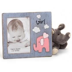 Dětský dřevěný fotorámeček 15x10 BABYFANT růžový