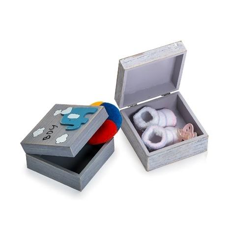 Dětská krabička na drobné upomínky modrá