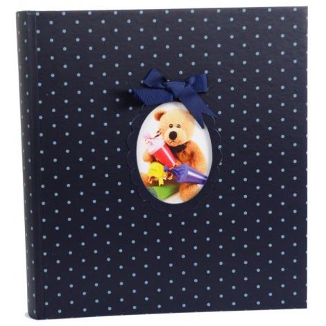 Modré dětské fotoalbum na růžky YOUNG CHILD 29x32/60s.