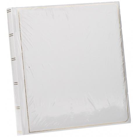 Klasické fotoalbum na růžky 35x35cm/100s. TRADITION bílé