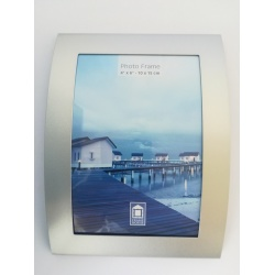 kovový fotorámeček 10x15cm prohlý, stříbrná