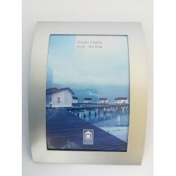 kovový fotorámeček 13x18cm prohlý, stříbrná