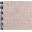 Spirálové fotoalbum na růžky 30x30/40s. LE CLOU šedé