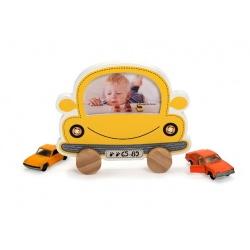 Dětský fotorámeček BABY CAR žlutý