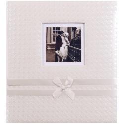 Svatební fotoalbum na růžky Now and Forever bílé