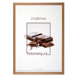 Dřevěný fotorámeček DR001K 9x13 01 světle hnědá
