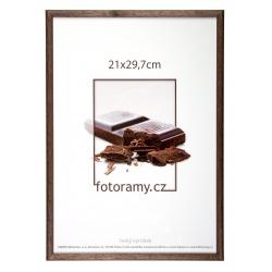Dřevěný fotorámeček DR001K 21x29,7 (A4) 02 tmavě hnědá