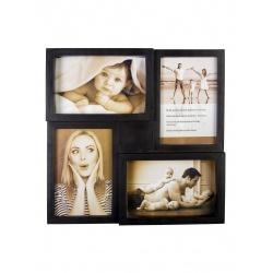 Černý plastový fotorámeček na více fotek 4 10x15cm KARPEX