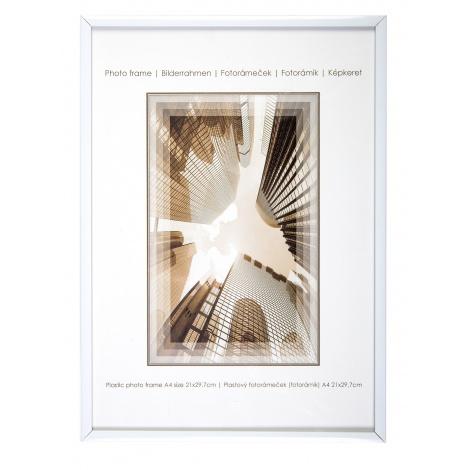 Bílý fotorámeček 21x29,7 A4 KARPEX