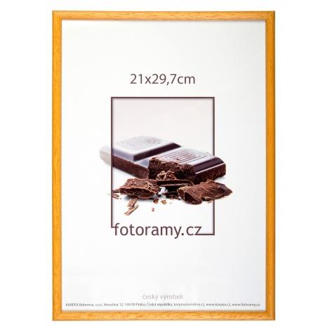 Dřevěný fotorámeček DR001K 30x40 05 mid natural