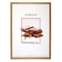 Dřevěný fotorámeček DR001K 15x21 (A5) 06 pinie