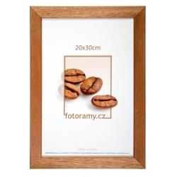 Dřevěný fotorámeček DR011K 20x30 01 světle hnědá