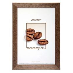 Dřevěný fotorámeček DR011K 15x21 A5 02 tmavě hnědá