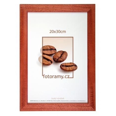 Dřevěný fotorámeček DR011K 13x18 03 mahagon