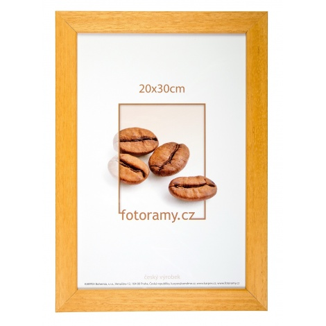 Dřevěný fotorámeček DR011K 9x13 05 mid natural