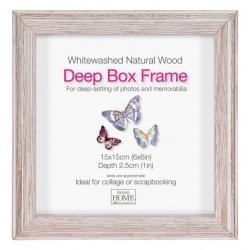 Hluboký čtvercový fotorámeček 15x15 Driftwood