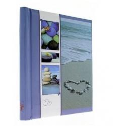 Samolepící fotoalbum 23x28/60s WELNESS modrá
