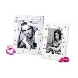 Kovový svatební fotorámeček 10x15 LA CORUNA pink