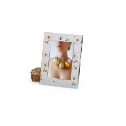 Kovový svatební fotorámeček 10x15 LA CORUNA gold