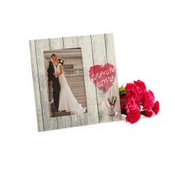 Svatební dřevěný fotorámeček s aplikací CELEBRATE LOVE 10x15