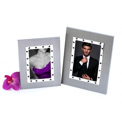Skleněný svatební fotorámeček 10x15 LOVE