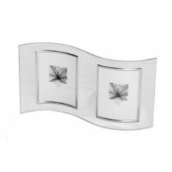 Skleněný dvojrámeček VERONA 2/13x18 stříbrný