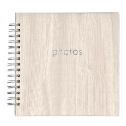 Spirálové fotoalbum POPLAR Scrapbook 22x22/40 světlé