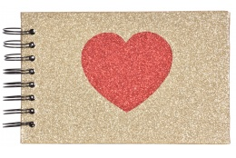 Spirálové zastrkávací fotoalbum 10x15/36 MGLITHEARTS zlaté