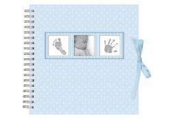 Dětské spirálové fotoalbum BABY POLKA DOT modré