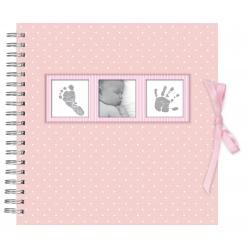 Dětské spirálové fotoalbum BABY POLKA DOT růžové