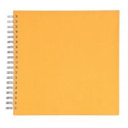 Spirálové fotoalbum LINEN Scrapbook 25x25/50 teracotta