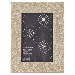 Luxusní dřevěný fotorámeček GLITTER 13x18 zlatý