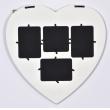 Rustikální fotorámeček  na více fotek 4F HEART and BUTTERFLIES